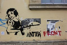 Nicosia, Cyprus. Antifa is short for anti-fascist.