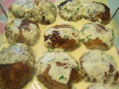 Котлеты в соусе из плавленого сыра