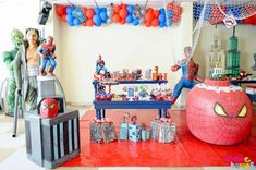 SPIDER MAN Birthday Party Ideas | Photo 3 of 53 | Catch My Party