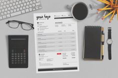 Professional Invoice Template  PSD Corel Draw by papernoon on Etsy