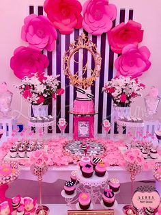 Barbie Birthday, Barbie Party, 40th Birthday Parties, Girl Birthday, Kate Spade Party, Party Scene, Festa Party, Pink Parties, Bridal Shower