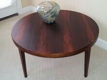 After Refurbishing - Severin Hansen for Haslev Circular Coffee Table