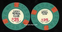 $25 Lucky Nevada Club 9th issue 1967