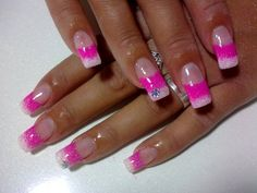 20 Trendy and Stylish Spring Nail Art Designs 2014 - Spring Nails Cute Simple Nails, Classy Nails, Trendy Nails, Cute Nails, Nail Art Designs, Cute Easy Nail Designs, Acrylic Nail Designs, Acrylic Nails, Nails Design
