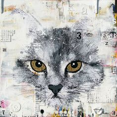 """PERCE NEIGE .Technique mixte sur toile. 122 x 122 cm / Mixed media on canvas. 48'' x 48"""". Janvier 2015, january. Artiste-peintre: Tone"""