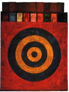 Jasper Johns, Target with Plaster Casts US, Neo Dada Neo Dada, Jackson Pollock, Roy Lichtenstein, Willem De Kooning, Jean Michel Basquiat, Pop Art, Jasper Johns Paintings, Keith Haring, Jasper Jones