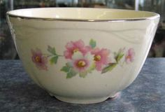 Moss Rose Cranberry Bowl Homer Laughlin