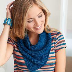 Patons Silk Bamboo - Kerchief (free knitting pattern)