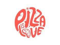 Pizza is love by Gustavo Zambelli #Design Popular #Dribbble #shots