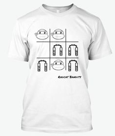 A good ol' fashioned game of tic tac toe featuring our favourite 90's hero in a hard shell- TURTLE POWER!!  Limited Edition proudly designed by Radcat Bandits.  Perfect Christmas present for loved ones!   Available for a limited time only.  www.teespring.com/stores/radcat-bandits