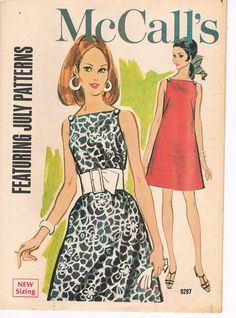 July 1968 Vintage McCall's Fashion Digest & Fabric News Sewing Pattern Flyer Fashion Illustrations