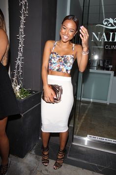 Karrueche Tran attends a charity event for Children's Hospital of Los Angeles at H.O.M.E in Beverly Hills