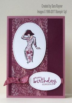 Beautiful You birthday card using supplies from Stampin' Up!