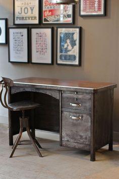 Original Reconditioned Steel desk -