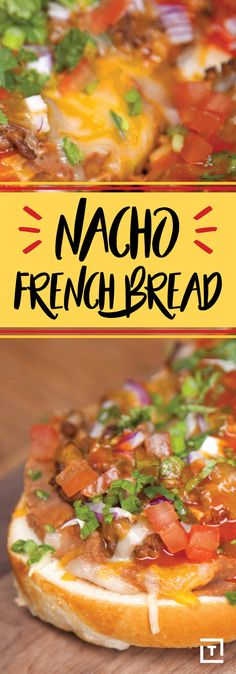 Chips? Forget 'em. Keep the crunch and opt for fresh French bread as the delivery system for all your favorite nacho trimmings. Don't overthink it, just trust us and make this insanely easy recipe from Food Steez. It's the kind of fusion cuisine we can get behind. Watch the video to see how it's done.