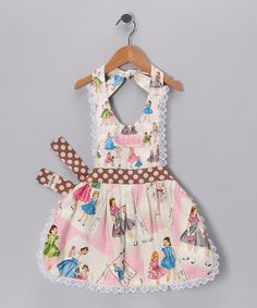 Vintage apron  Marché Rose White McCalls Personalized Reversible Apron by Individual Style: Personalized Pieces on #zulily today! #vintage_apron #girls