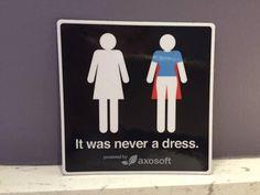 Bathroom Signs Nz it was never a dress - but a superhero cape | stuff.co.nz
