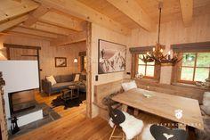 Luxury Chalet at the Dachstein - Cottage Holidays in Schladming - Dachstein for rent - A . Chalet Design, Cabin Design, Küchen Design, Chalet Interior, Interior Design, Dining Room Corner, Cabin Interiors, Tiny House Plans, Log Homes