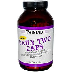 Twinlab Daily Two Caps without Iron 180 Capsules ** Check out the image by visiting the link. Note: It's an affiliate link to Amazon.