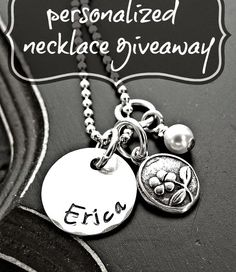 yourcharmedlife: Personalized Sterling Silver Flower Necklace // Giveaway