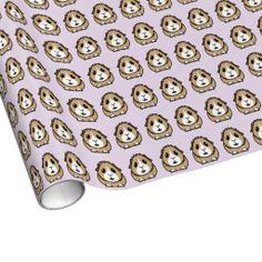 Cartoon Guinea Pig Wrapping Paper (purple) http://www.zazzle.co.uk/popcornprints/wrappingpaper?rf=238205274887202706