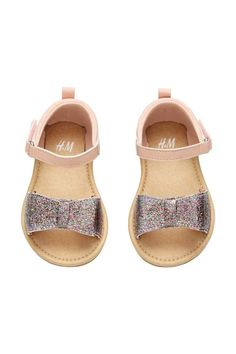 Sandali con fiocco glitter