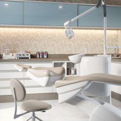 Consultório Odontológico Dentist Clinic, Dental Hospital, Clinic Interior Design, Clinic Design, Dental Office Design, Medical Design, Dental Cabinet, Treatment Rooms, Cabinet Design