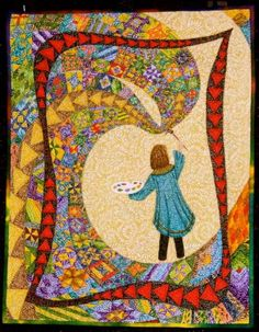 Love this quilt, but especially love the border treatment. From Pam Holland.
