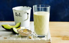 """Almond and avocado protein smoothie  recipe - By Supplied, Almonds are rich in nutrients such as protein, fibre, vitamin E, zinc, potassium, iron, and calcium. Almond milk also contains flavonoids, which help to lower levels of """"bad"""" cholesterol and protect the heart. Powerful antioxidants in almonds help support a strong immune system."""