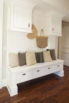 Awesome idea for a mud room!!