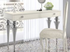 Coiffeuse laquée.Mod: GA1320 Decoration, Entryway Tables, Vanity, Design, Furniture, Home Decor, Environment, Solid Wood, Drawer Pulls