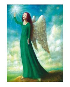 Angel in Green ~ Stephen Mackey Limited Edition Print Fantasy Paintings, Fantasy Art, Art Paintings, Stephen Mackey, Angels Touch, Angel Images, I Believe In Angels, Psy Art, Les Religions