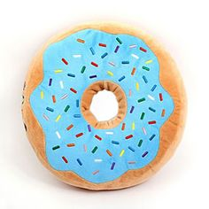 Wishlist - Donut Pillow (Blue or Pink icing!)