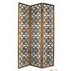 Wayborn Interlocking Squares Wooden Room Divider - 5318