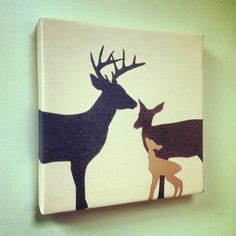 Deer  12x12  Avalisa Stretched Canvas Wall Art by AvalisaDesign, $59.00