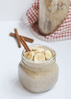 Almond Butter Banana Chia Seed Pudding