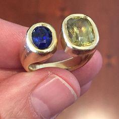 #sapphire #maligarnet #18kgold #mensring so yummy  #jewelry #jewellery #customdesign #jewelryartist