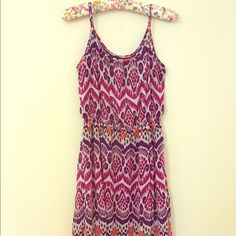 GAP Summer Dress  Adorable lines chiffon dress! I'm 5'2 and it hits right at/above my knees. This dress is super cute with cowgirl boots!!! Or wedges! GAP Dresses Midi