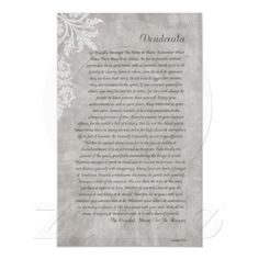 Pick your perfect Poster wedding program with Zazzle. Desiderata Poem, Max Ehrmann, Wedding Programs, Poems, Peace, Poster, Live, Poetry, A Poem