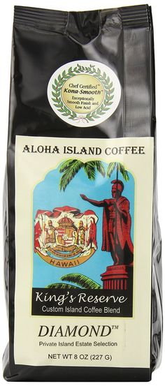 Aloha Island Coffee Kona Smooth DIAMOND Kings Reserve Hawaiian Blend Coffee >>> Continue to the product at the image link.