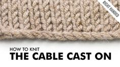 To download our guide with 5 Tips To Instantly Improve Your Knitting Skills, visit: http://newstitchaday.com/5knittips DESCRIPTION The Cable Cast On is a tec...