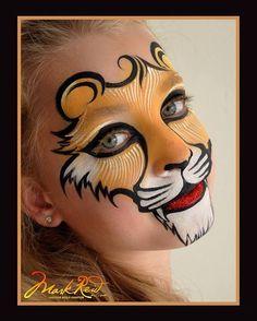 Face painting examples are very useful in the art of face painting. One of the greatest things about face painting examples, is that there are many reference Face Painting Tutorials, Face Painting Designs, Paint Designs, Body Painting, Animal Face Paintings, Animal Faces, Lion Face Paint Easy, Lion Makeup, Tiger Face Paints