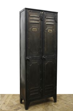 This is a great tall #Industrial #cabinet that's suitable for just about any room! www.antiquesdirect.ca