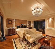 Luxury European style bedroom design and decoration 2015