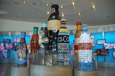 World of Coca Cola Lobby Coke Bottles  Atlanta GA
