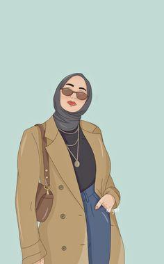 Cartoon Girl Images, Cartoon Girl Drawing, Girl Cartoon, Cartoon Art, Friends Illustration, Illustration Art, Comic Art Girls, Islamic Cartoon, Anime Muslim