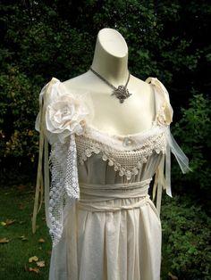 Victorian Wedding Cupcake Dress Ripped Torn by vintagevalise, $120.00