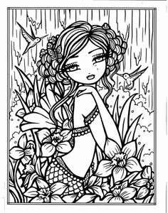Blank Coloring Pages, Abstract Coloring Pages, Coloring Pages For Grown Ups, Mermaid Coloring Pages, Printable Adult Coloring Pages, Coloring Books, Doodle Coloring, Color Pencil Art, Colorful Drawings