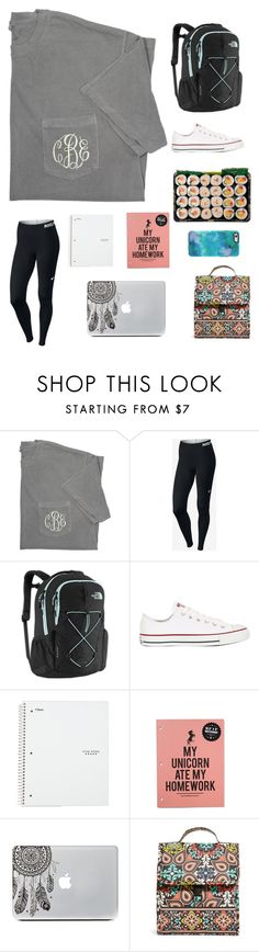 """Mermaids don't do homework"" by annalavelle13 ❤ liked on Polyvore featuring NIKE, The North Face, Converse, Vera Bradley and OtterBox"