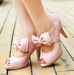 Fashion lace big bow high-heeled sandals SS05223SH